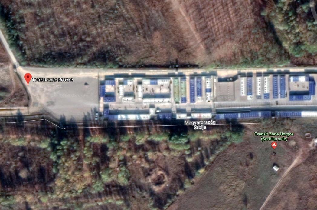 Roske Transit Zone Detention Centres (Google Maps, https://tinyurl.com/y9n5m56r)