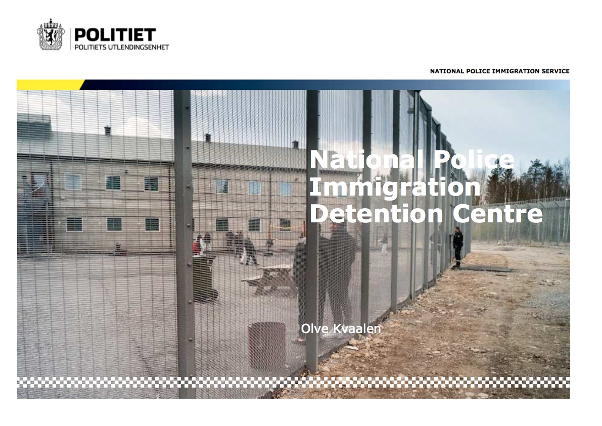 Trandum Detention Centre (National Police Immigration Service, 2018)