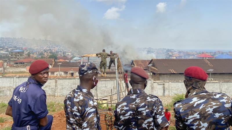 Security Forces Surrounding Pademba Prison in Freetown After a Riot Broke Out, (Cooper Inveen, Reuters,