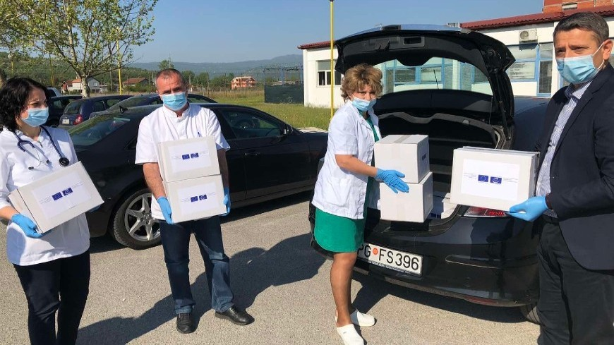 Prison Staff Receive Protective and Hygiene Equipment from part of EU and CoE, (Council of Europe,
