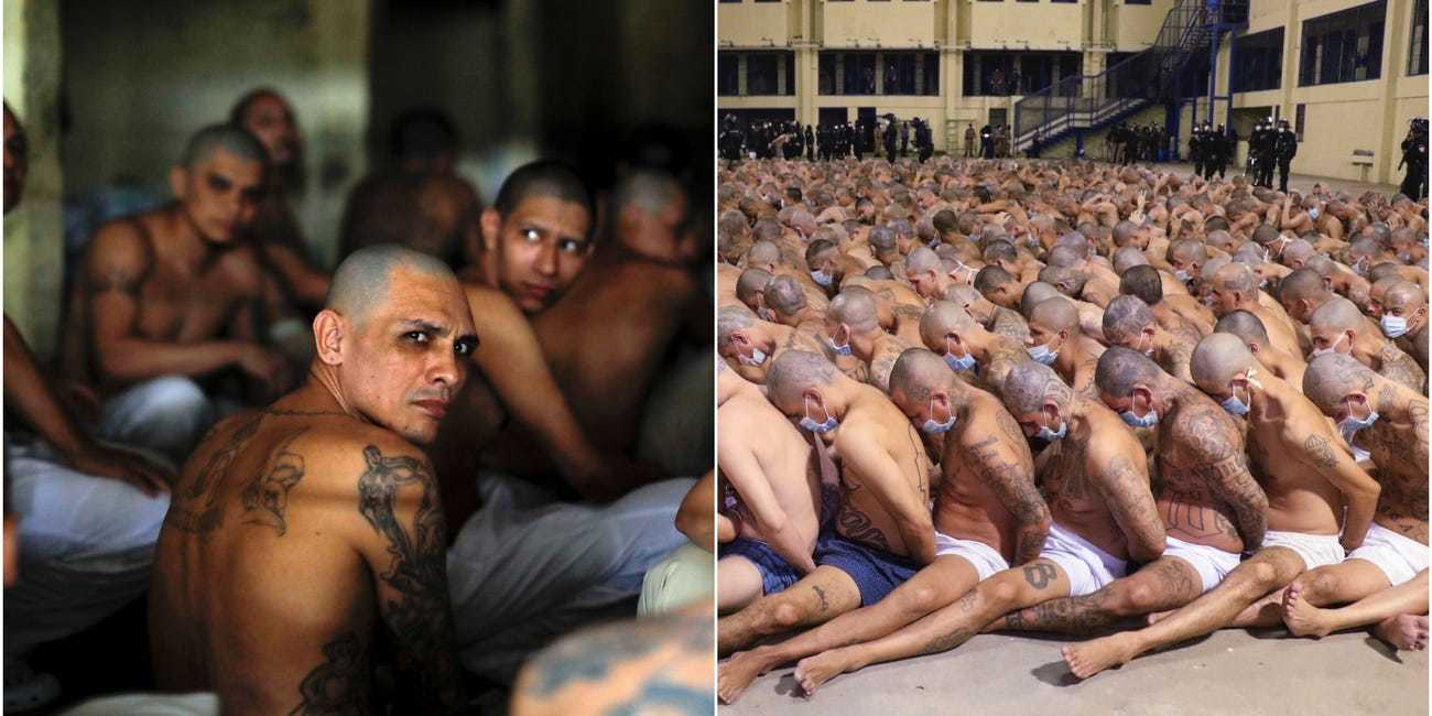 Prisoners Handcuffed and Stacked Together as Punishment for Spate of Violence Within Prisons, (Jose Cabezas, Reuters,