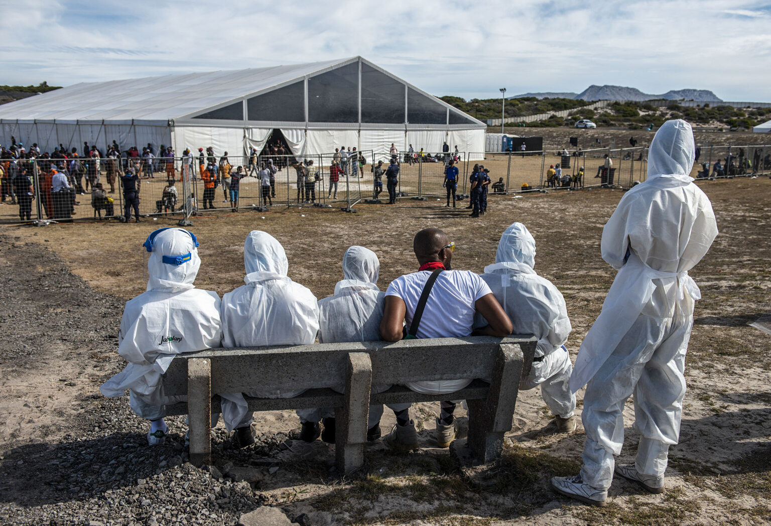 """Lawyers for Human Rights, """"Strandfontein Homeless Committee Takes on City of Cape Town,"""" 19 May 2020, https://www.lhr.org.za/lhr-news/strandfontein-homeless-committee-takes-on-city-of-cape-town"""