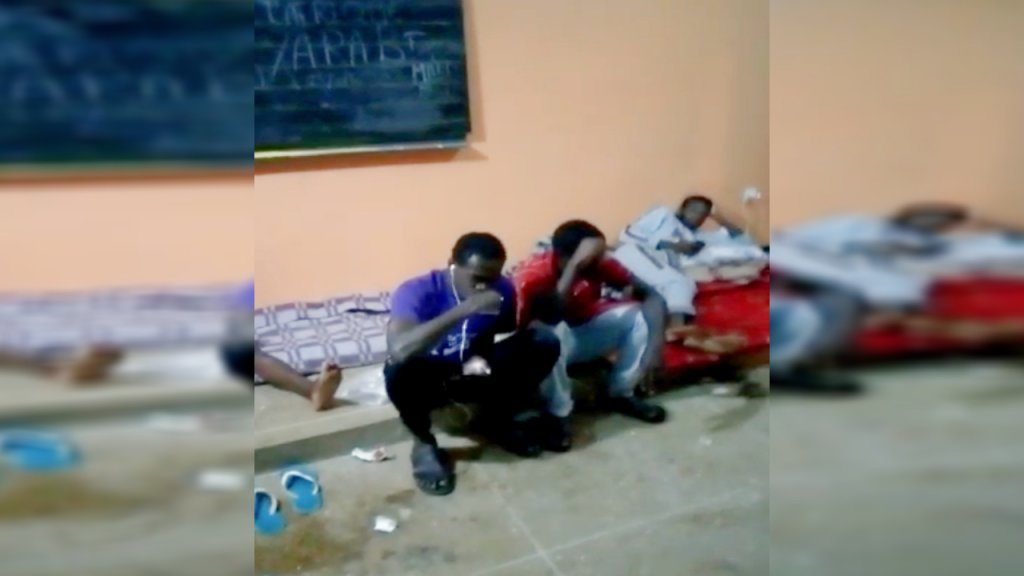 Migrants Sitting Inside a Classroom in Laâyoune, (DR, Infomigrants,
