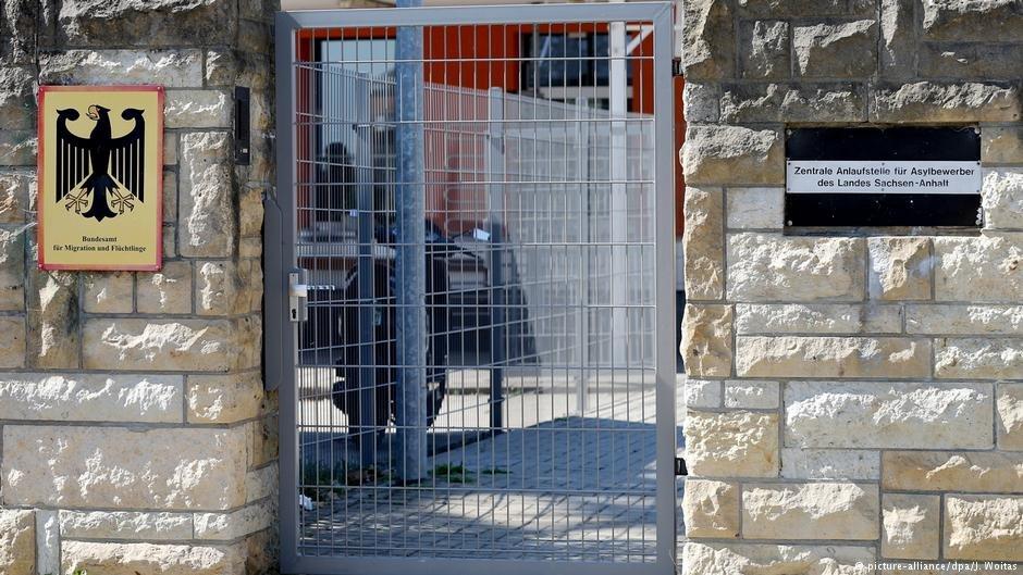 BAMF Office entrance in Halberstadt - https://www.infomigrants.net/en/post/15271/saudi-women-refugees-in-germany-still-living-in-fear