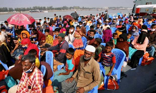 Rohingya Refugees Aboard Bound for Bhasan Char in December 2020, (Mohammad Ponir,