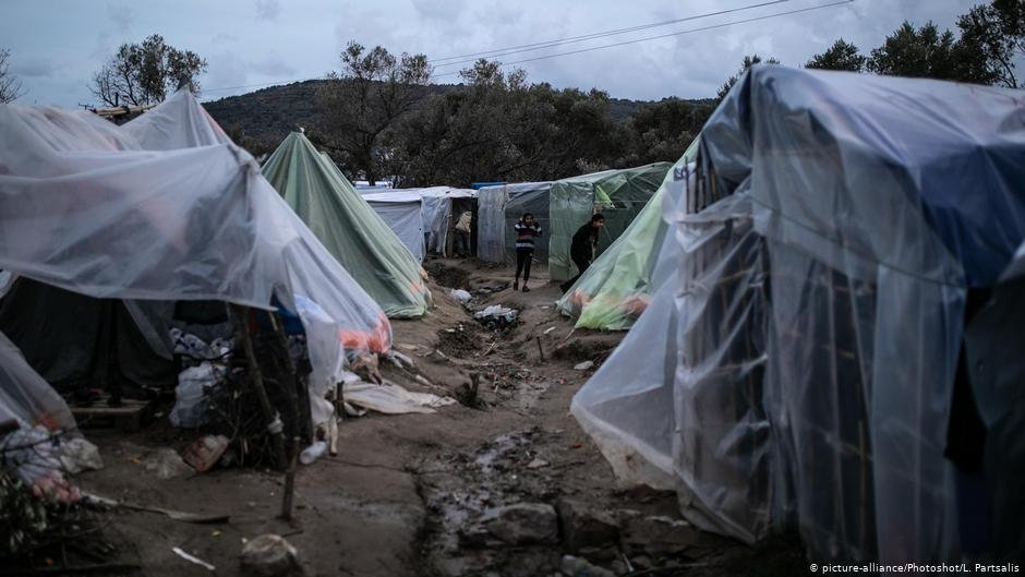 Vial Migrant Camp on the Greek Island of Chios, (L. Partsalis, Picture Alliance,