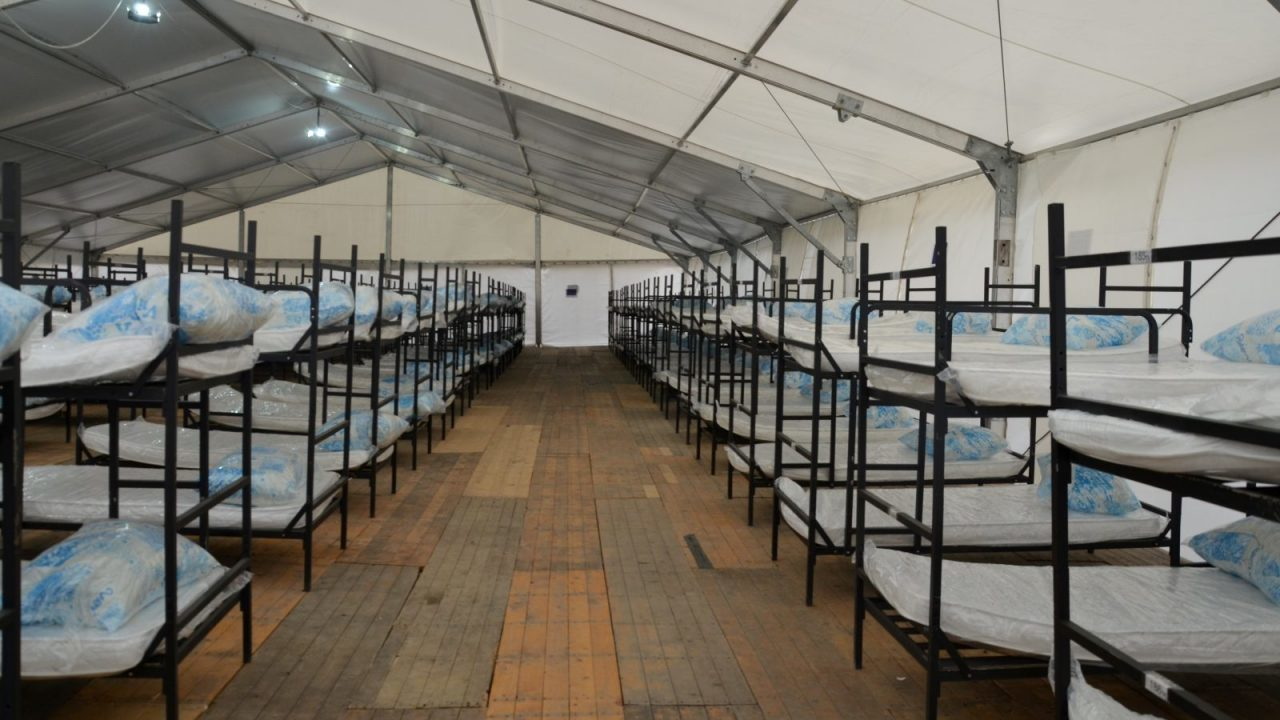 Bunk Beds in a Large Tent at the Temporary Reception Centre in Lipa, (IOM,
