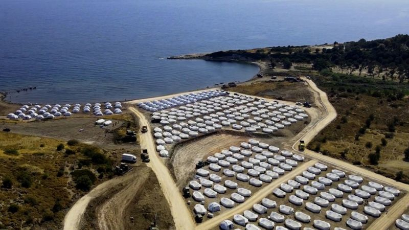"BBC, ""Lesvos: Hundreds Test Positive for Covid-19 After Migrant Camp Fire,"" 22 September 2020, https://www.bbc.com/news/world-europe-54239446"