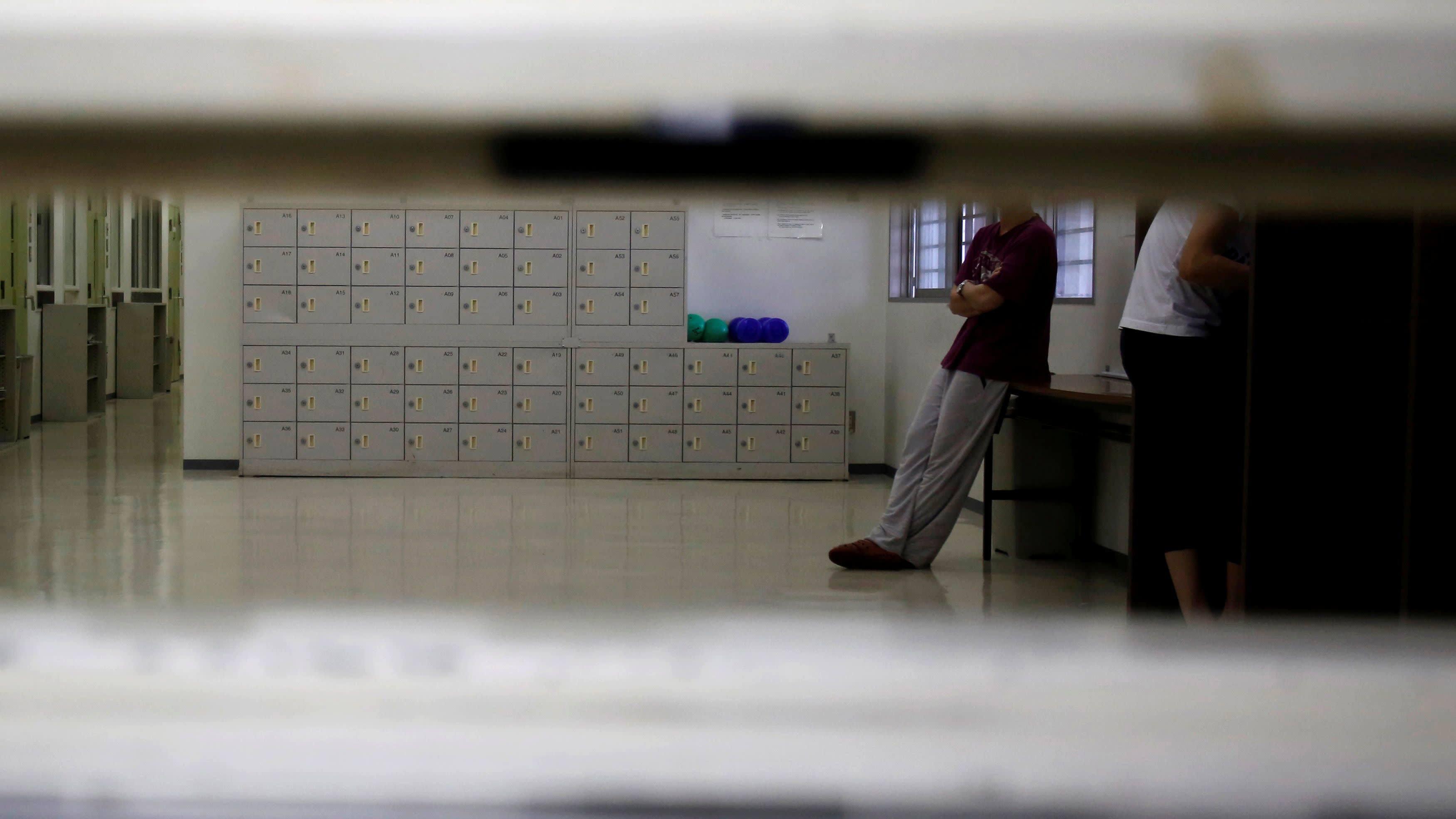 A Detainee Waiting Inside a Tokyo Detention Centre Run by the Regional Immigration Bureau, (Reuters,