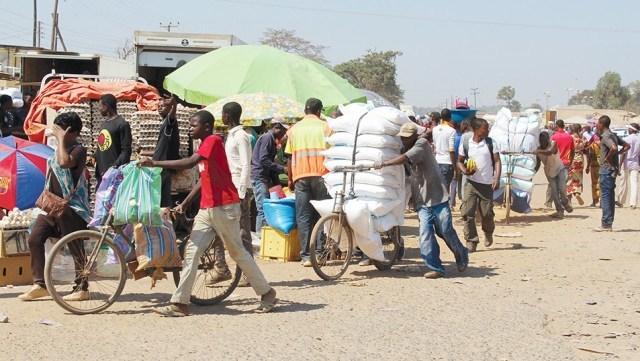 People at the Kasumbalesa Market, Vital for Cross-Border Trade with Congo, (J. Nkomo, Zambia News, 13 April 2020,