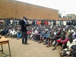 "Victor Mhango from the Centre for Human Rights Advice Assistance and Education addressing Prisoners at Chichiri Prison, (Nyasa Times, ""CSOs Call for Decongestion in Malawi Prisons as Response to Covid-19,"" 18 March 2020, https://www.nyasatimes.com/csos-call-for-decongestion-in-malawi-prisons-as-response-to-covid-19/)"
