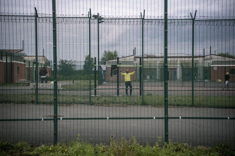 Detainees inside the Mesnil-Amelot Detention Centre, (Christophe Archambault, AFP, May 2019, Libération,