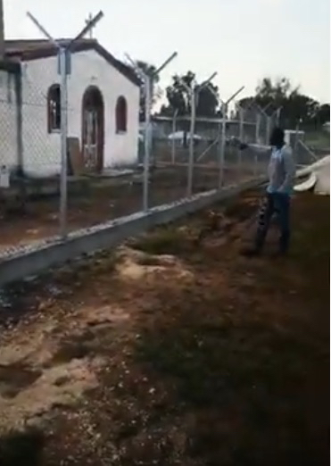 Video still from Pounara Camp, Cyprus (Courtesy KISA, 11 April 2020)