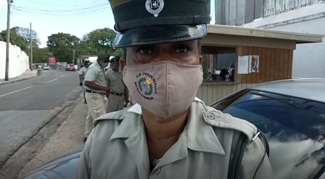 Prison Officer Protesting in Antigua and Barbuda, (Dominican News Online,
