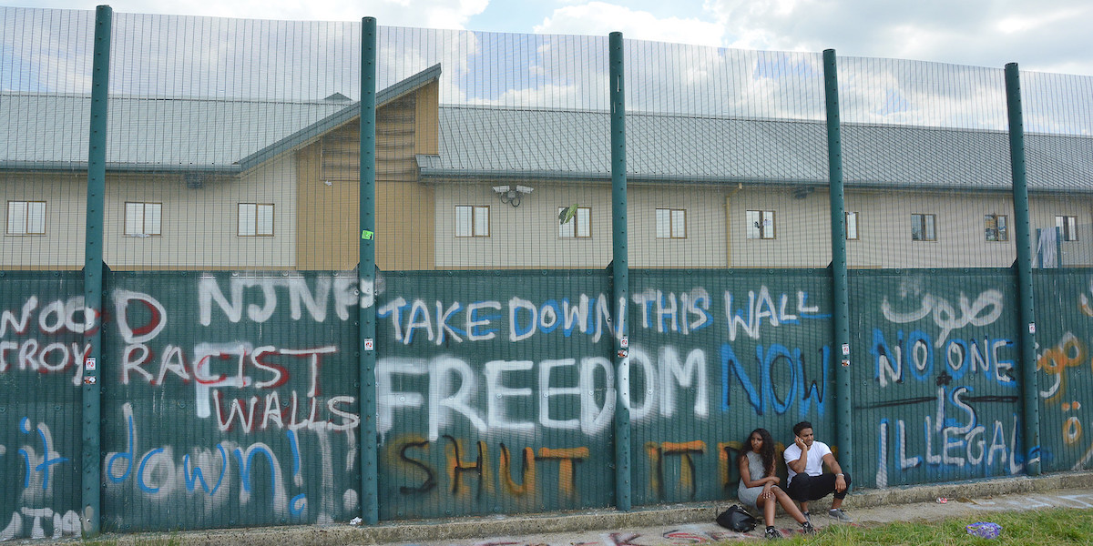 The Walls Outside Yarl's Wood Immigration Removal Centre, Taken on 8 August 2015, (EYE DJ,