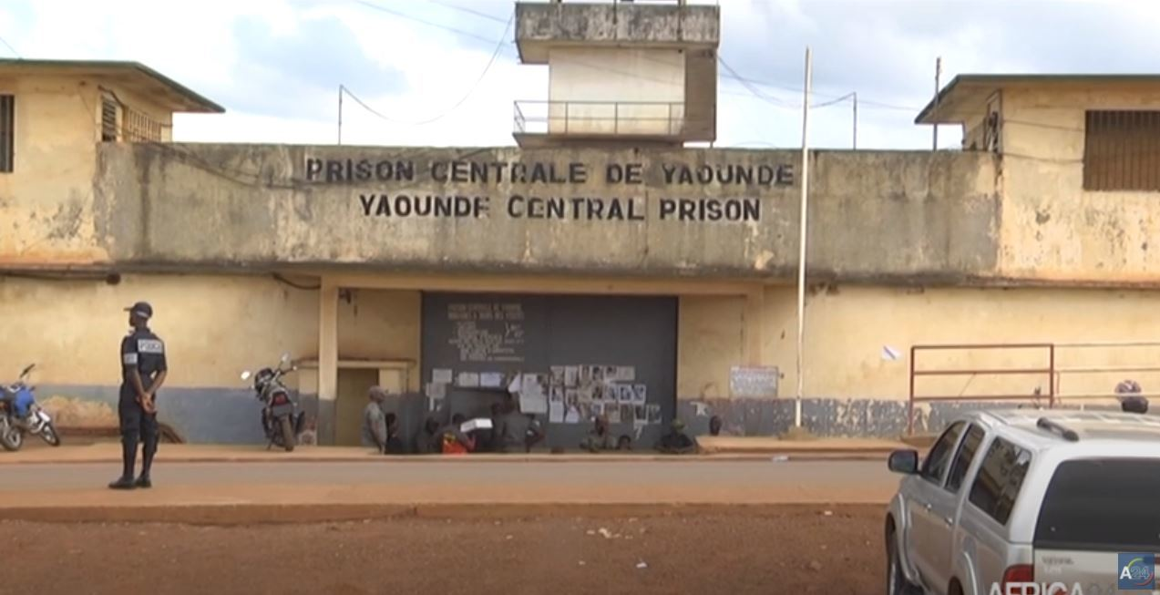 Police Officers Standing in Front of Yaoundé Central Prison, (Africa 24,