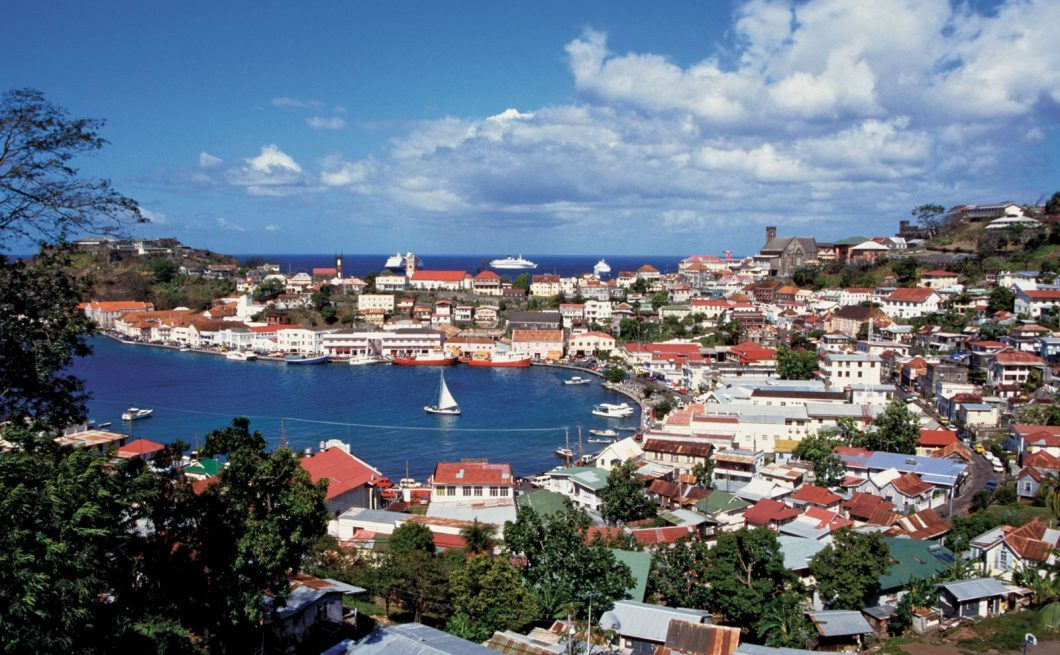 An Aerial View of St. Georges, the Capital of Grenada, (Britannica,