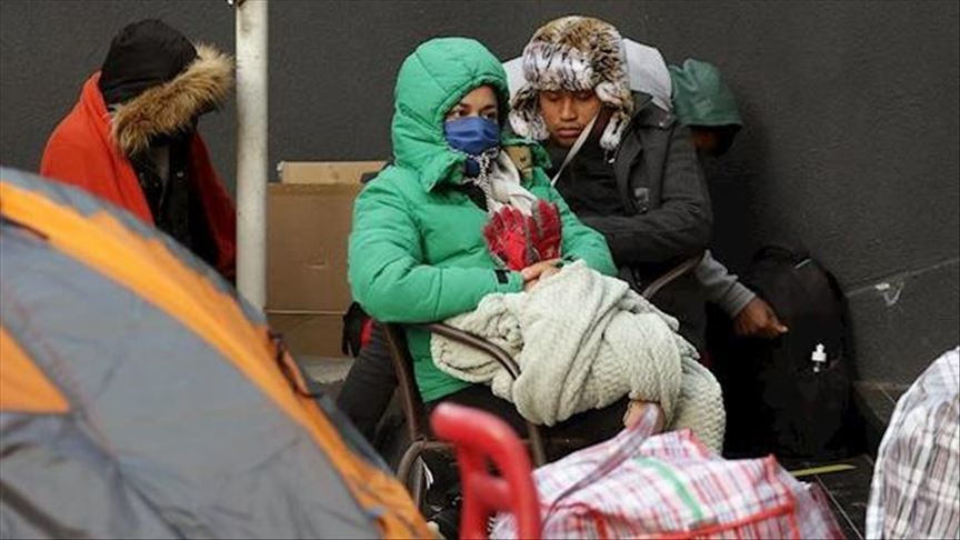 Peruvian Migrants Camping Outside the Peruvian Embassy in Santiago, (Coordinadora Nacional de Inmigrantes de Chile,