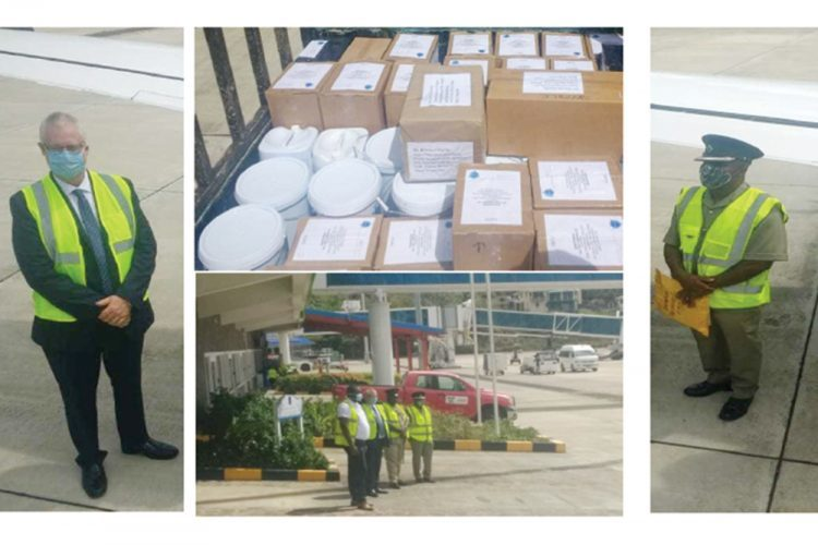 Sanitation Supplies Donated by CARICOM IMPACS  to the St. Vincent and the Grenadines Prison Service, (Searchlight,