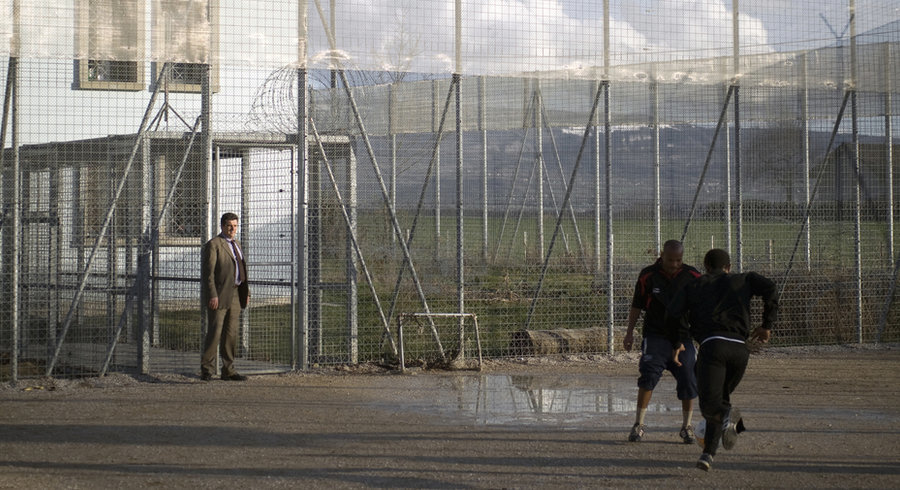 Detainees Playing Football During Recreation in the Frambois Detention Centre in Geneva, (https://www.letemps.ch/suisse/un-licenciement-injuste-coute-tres-cher-letat-geneve)