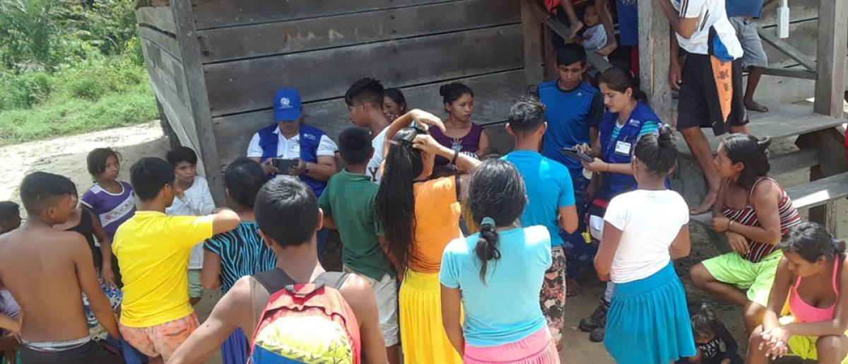 IOM Workers Providing Essential Non-Food Items to Venezuelan Migrants and Refugees in Guyana, (IOM,