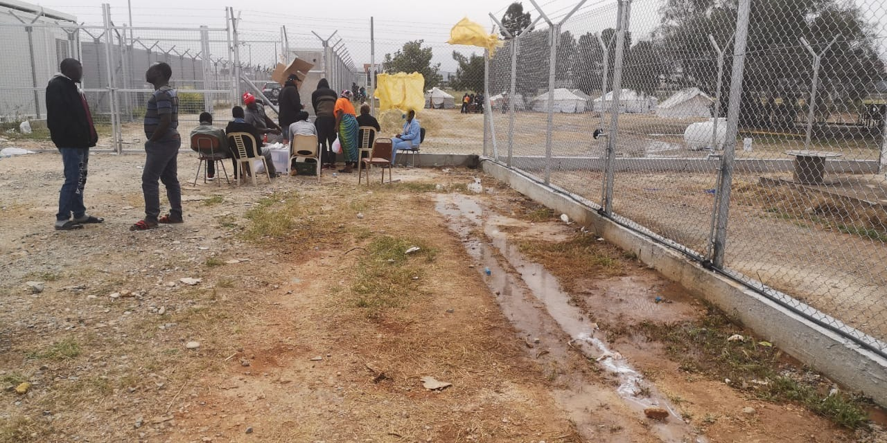 Refugees are held in Kokkinotrimithia Camp - a registration reception centre which has been turned into a de facto detention centre (https://knews.kathimerini.com.cy/en/news/ngos-raise-alarm-over-inhumane-conditions-at-overcrowded-migrant-detention-camp)
