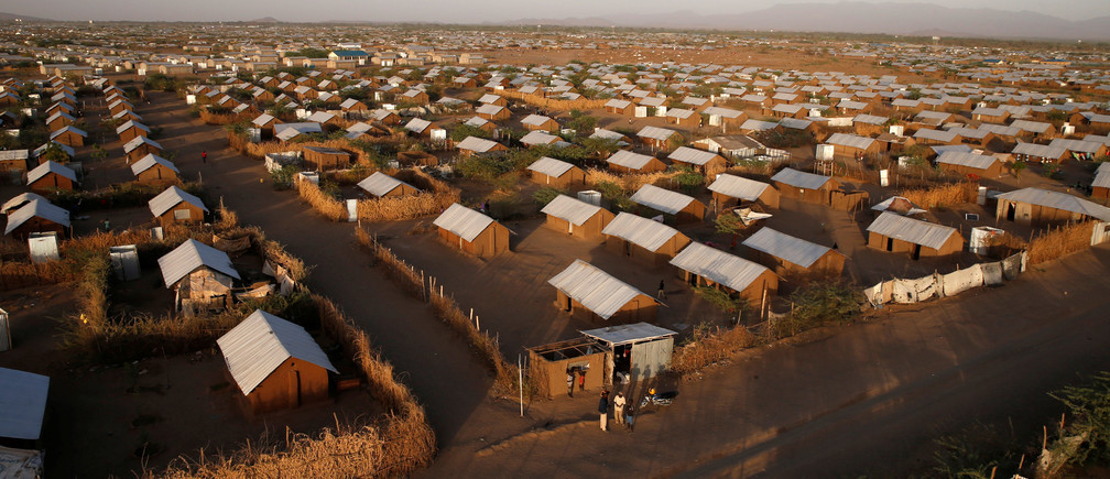 Aerial View of the Kakuma Refugee Camp in Kenya, (Thomas Mukoya, Reuters,