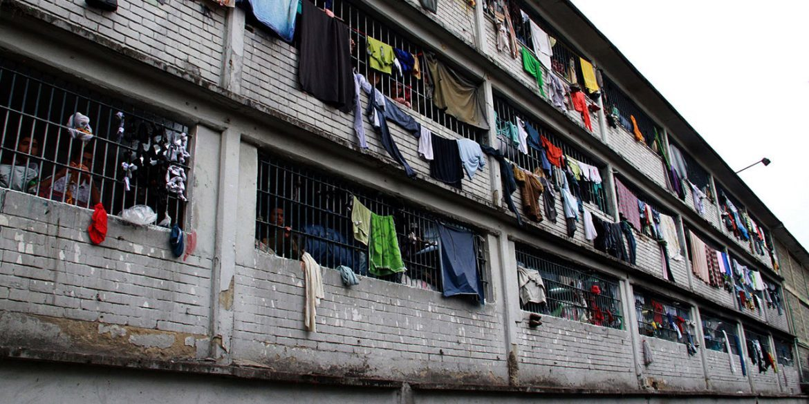 A Wall of the Modelo Prison in Bogota, Colombia, (https://colombiareports.com/colombia-to-release-more-than-10000-inmates-from-prison-over-coronavirus-fears/)
