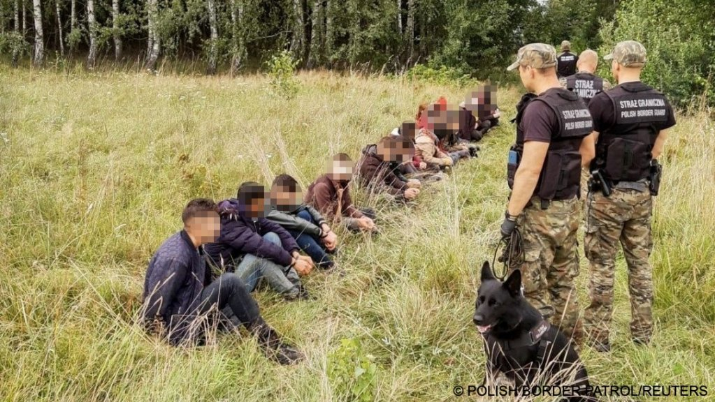 Polish Border Guards Detain People Attempting to Cross the Border Between Belarus and Poland on 9 August 2021 (Main Command of the Polish Border Patrol, Reuters,