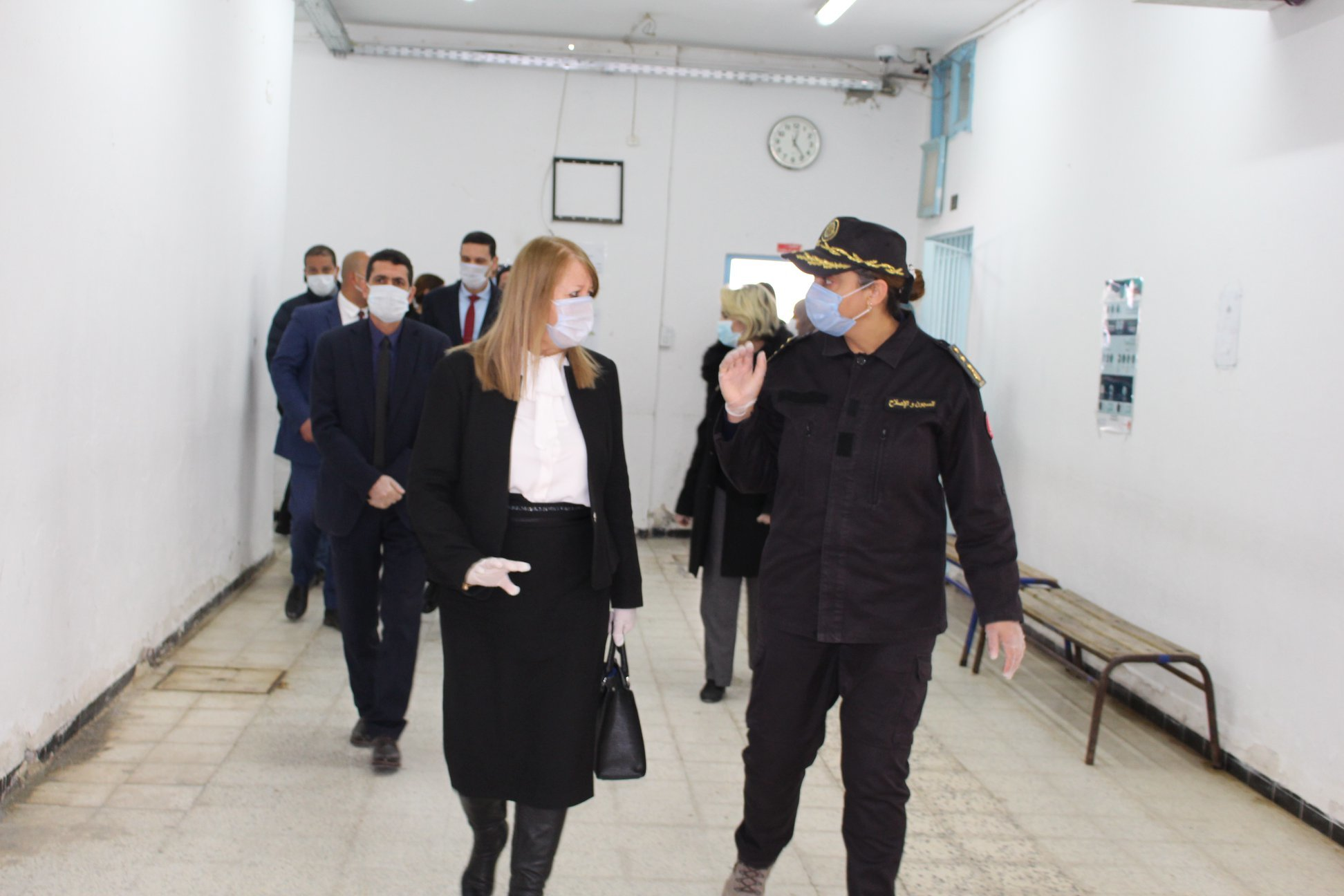 Tunisia's Minister of Justice visits Manouba women's prison to ensure that preventive measures are being put in place, Kapitalis, 12 March 2020 (http://kapitalis.com/tunisie/2020/03/13/coronavirus-sterilisation-et-autres-mesures-preventives-dans-les-prisons-tunisiennes/)