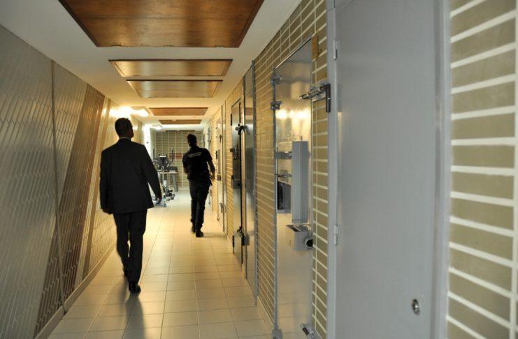 Corridor in Monaco's Prison, (Monaco Hebdo, N. Gehin,