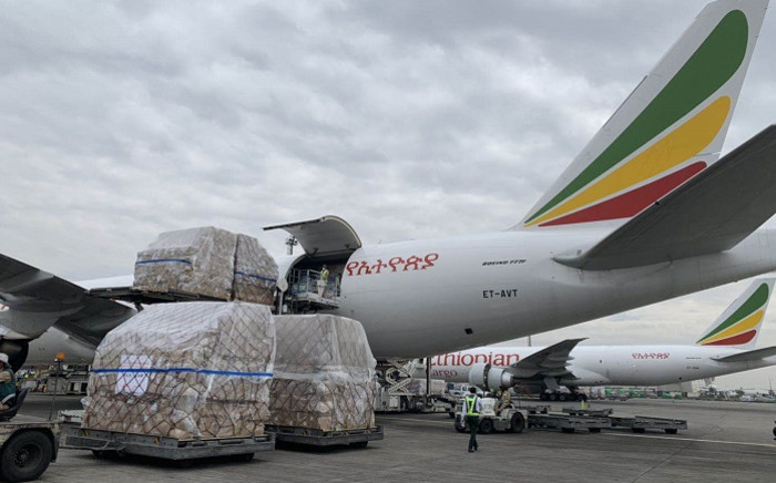 Ethiopian Airlines Plane With Millions of Medical Supplies Donated by Jack Ma Arrives in Lesotho, (Supplied,